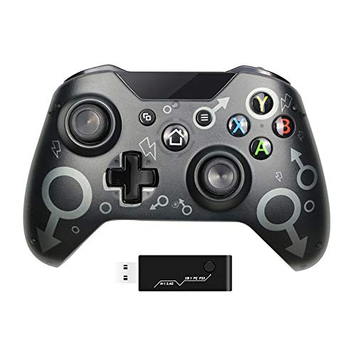 TIAS Wireless Controller for Xbox One, with 2.4GHZ Wireless Adapter Gamepad, Compatible with Xbox One/One S/One X/P3/Windows