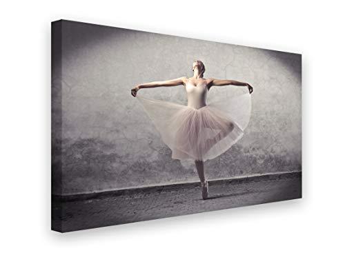 PICSonPAPER Leinwandbild Ballett, 70 cm x 50 cm, Dekoration, Kunstdruck, Wandbild, Leinwand Ballerina, Balletttänzerin
