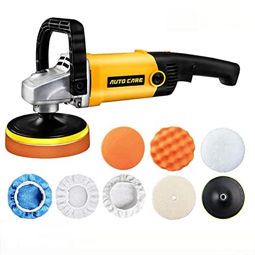 Pulidora Rotativa Para Coche Disco De 180 Mm Orbital Velocidad Variable 3000 Rpm M14 Pulidora Eléctrica Para Suelos Herramienta De Cuidado De Pintura Máquina Pulidora