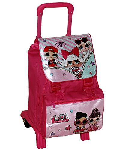 Zaino Trolley LOL SURPRISE Scuola Elementare ESTENSIBILE Carrello Staccabile Rimovibile Richiudibile bambina