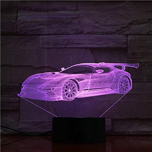YXXERSHI LED Sportwagen Modell Vision Licht 3D Nachtlicht USB wiederaufladbares dekoratives Licht