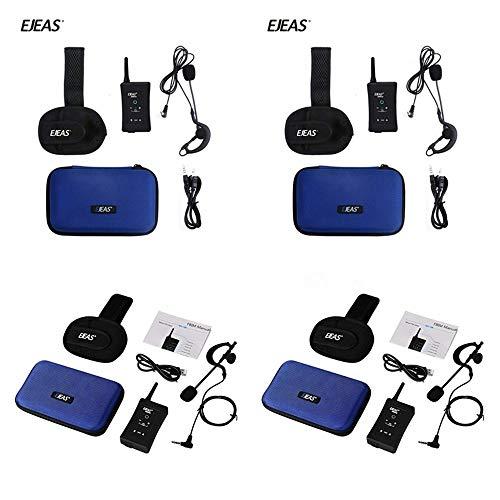 4 X Set Referee EJEAS Bluetooth Headset Communication FBIM Football Coach walkie Talkie Headset 1200 Wireless walkie-Talkie Full Duplex Bluetooth walkie-Talkie Armband