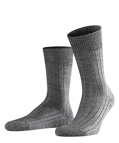 FALKE Herren Teppich Im Schuh Schurwolle Einfarbig 1 Paar Business Socken, Grau (Dark Grey 3070), 45-46