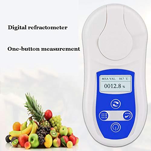 XFY Digitale refractometer met automatische uitschakelfunctie voor snelle verwijdering van courgettes in zoete koffie, vangen en andere vloeistoffen