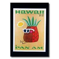 ハワイアンポスター エアラインシリーズ A-36 「パンナム パイナップル」 サイズ:28.5×21.5cm