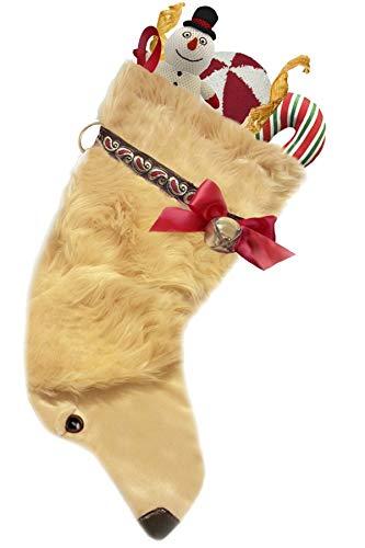 Pronk! Golden Retriever Long Hair Hearth Hound Decorative Dog Christmas Stocking