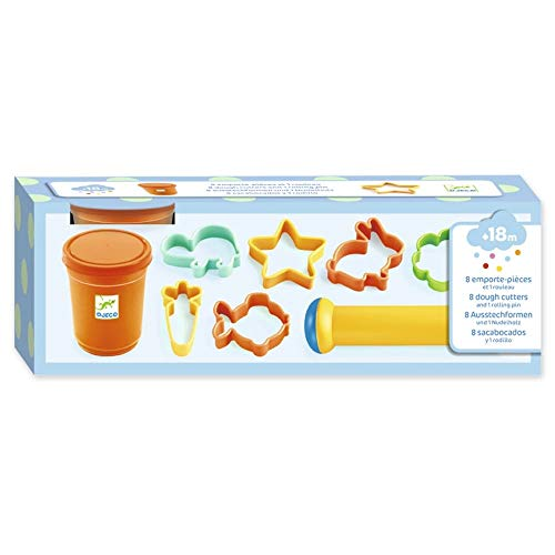 Djeco 8 Cookie Cutters and 1 Rolling Pin