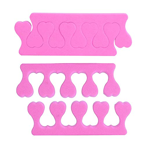 Toe Separators, 100Pcs Soft Foam Toe Separator Pedicure Stretcher for Nail Art Finger Overlapping Toes Fingers Relaxing Holding