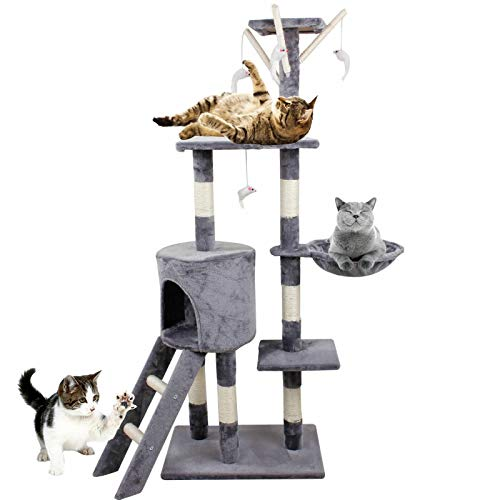 Autofather Mehrstufige Kratzbaum Kratzbaumturmkatzen mit Sisalseil Kätzchen...