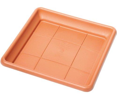 Telcom Dionisio ISQT 30 - Sottovaso in plastica, 30 x 30 cm, Colore: Terracotta