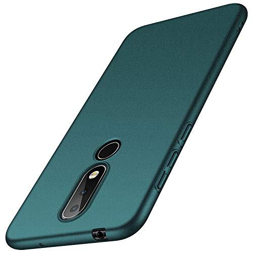 anccer Cover Nokia 6.1 Plus [Serie Colorato] di Gomma Rigida Protezione da Cadute e Urti Nokia 6.1 Plus (Ghiaia Verde)