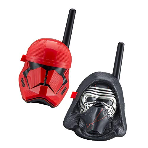 eKids Star Wars Kylo Ren & First Order Trooper Kids Walkie Talkies for Kids Static Free Extended Range Kid Friendly Easy to Use 2 Way Radio Toy Handheld Walkie Talkies Team Work Indoors or Outdoors