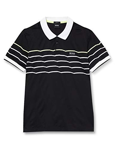 BOSS Paule 5 Polo, Negro (Black 1), Small para Hombre