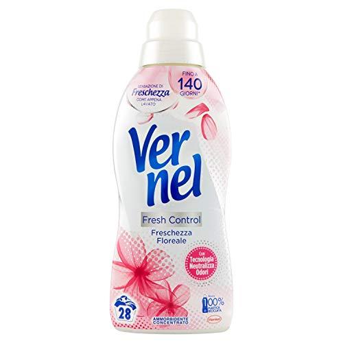 Vernel Vernel Fresh Control, Suavizante para lavadora con neutraliza olores, frescura floral, apto también para pieles sensibles, 700 ml – 700 ml