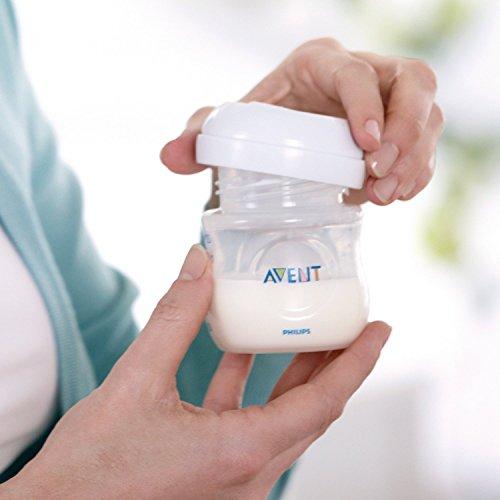 Philips Avent SCF332/01 - Sacaleches, extractor de leche eléctrico, con cojín masajeador suave, incluye biberón