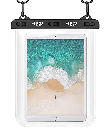 "HeySplash Universal Waterproof Tablet Case, Underwater iPad Waterproof Case Dry Bag with Lanyard Compatible with New iPad 10.2"", iPad Mini 5/4/3, iPad Pro 9.7 Tablets up to 10.5 Inch - Clear"