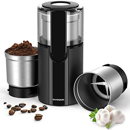 SHARDOR Coffee & Spice Grinders Electric with 2 Removable Stainless Steel Bowls for...