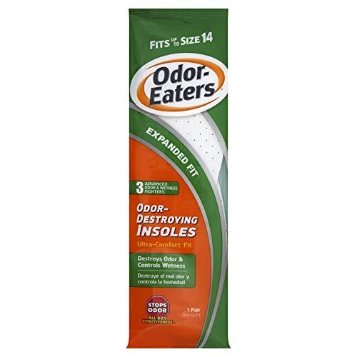 Odor-Eaters Plantillas ultra cómodas que destruyen el olor, se adapta hasta el tamaño 14, recortar a tamaño – 1 pr