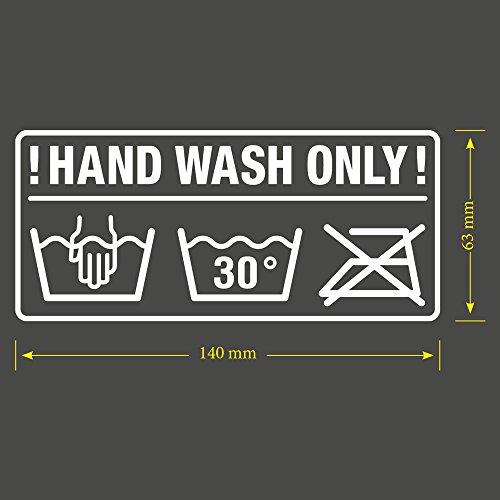 Autosticker Hand Wash only JDM Tuning OEM DUB Decal Stickerbomb Bombing fun grasmaaier robotmaaier
