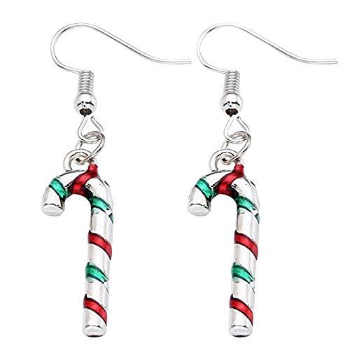 Wicemoon Ohrring Weihnachten Farbiger Krücken Anhänger Damen Ohr Hängenden Schmuck
