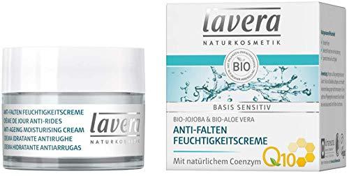 Lavera Basis sensitiv Anti-Falten Feuchtigkeitscreme mit Coenzym Q10 3er Pack (3 x 50ml)