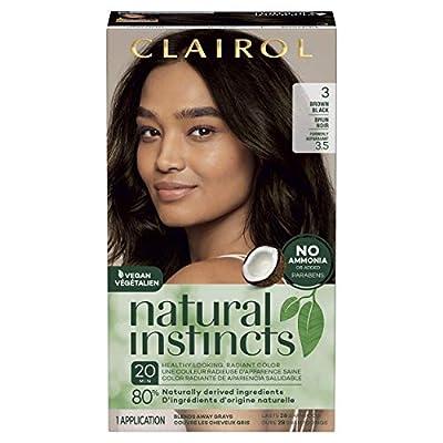 Clairol Natural Instincts Semi-Permanent, 3 Brown Black, Ebony Mocha, 1 Count