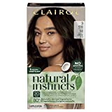 Clairol Natural Instincts Semi-Permanent Hair Dye, 3 Brown Black Hair Color, 1 Count