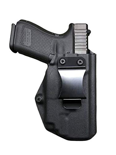 Black Kydex IWB Holster Compatible with Glock 19 23 32 Olight PL-Mini 2