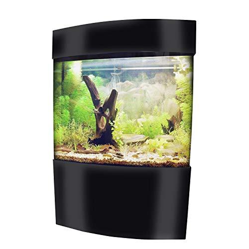 Vepotek 40-Gallon Acrylic Bowfront Aquarium Fish Tank