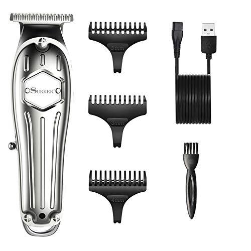 Professional Tondeuse À Cheveux Rechargeable Cheveux Cutter Rasoir Coupe De Cheveux Machine Pour Hommes Réglable Lame En Acier Inoxydable