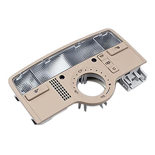 Iinger Luz de Techo de luz de Lectura Interior con Interruptor de Techo Solar Ajuste para -Passat B5 3BD 947 105 A (Color : Beige)