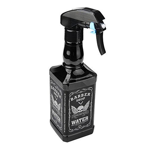 Pulvérisateur d'eau Covermason 500ml Flacon Pulvérisateur Salon de Coiffure Pulvérisateur Barbier Outils de Coiffure Pulvérisateurs D'eau Vide (noir)