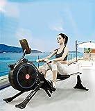 LeeBZ Rudergerät, zusammenklappbar, für den Innenbereich, geräuschlos, magnetisch, Verstellbarer Widerstand, Fitness-Rower für zu Hause - 2