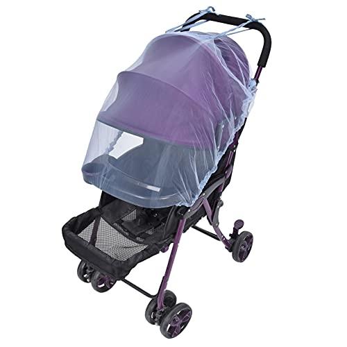 Oure Mosquitera para bebé, mosquitera para Cochecito, portátil, Transpirable para Exteriores, para el hogar, para Viajes, para Cochecito de bebé(Blue)