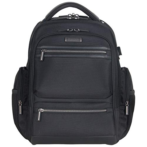 Kenneth Cole Reaction Dual Compartment 17' Laptop Backpack with USB, Black
