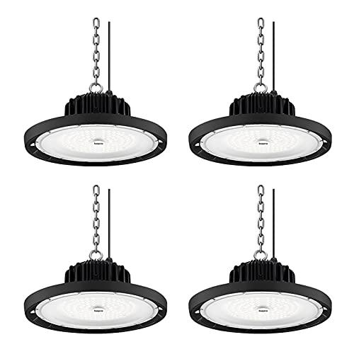 4 piezas 100W 10000LM UFO Iluminación LED de la Bahía, 6500K blanco...
