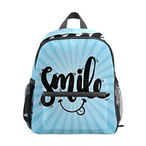 Mochila infantil para niños de 1 a 6 años de edad, mochila perfecta para niños y niñas y niños en el jardín de infancia, logotipo negro, rayas azules