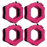 SONSYON Barbell Grips - 4 Piezas Mancuernas Barbell Collar Clips Clamp Lock En 50mm Ideal para Levantamiento De Pesas Fitness, Rosa roja, Hole: 50mm