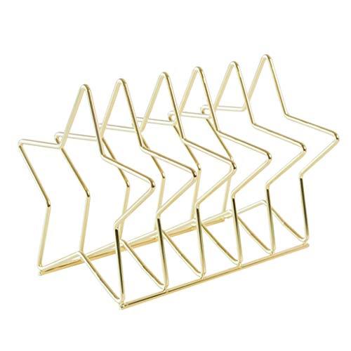 Estantería multifuncional Revistero Archivo Clasificador, multifuncional metal 5 hoyos Tabla Organizador, Usado Archivo de Estudiante y niños Oficina Estantería de libros, Oro ( tamaño : Single pack )