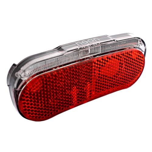 nean Fahrrad Dynamo-Rückleuchte mit Standlicht, Reflektor und StVZO-Zulassung, Großflächen-Rückstrahler mit Z-Symbol, 5 Candela