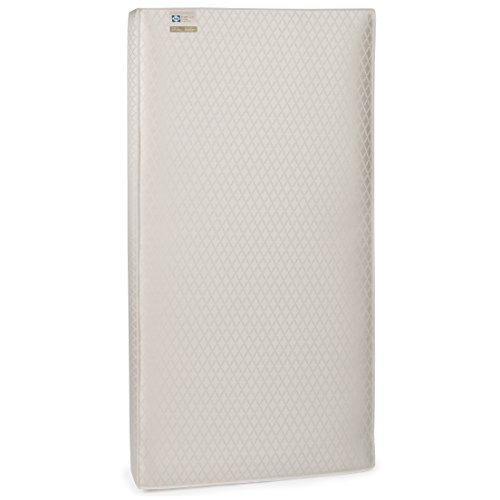 "Sealy Baby EverLite 2-Stage Dual Firmness Lightweight Waterproof Standard Toddler & Baby Crib Mattress, 52"" x 28"""