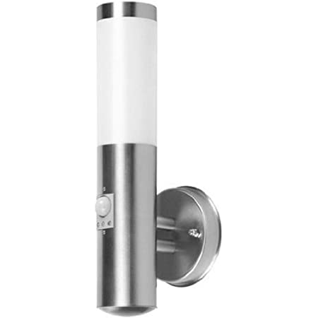 Applique murale Smartwares RX1010-38R-S – Lampe extérieure – Acier inoxydable – Détecteur de mouvement – IP44