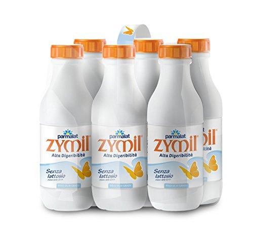 Zymil Latte Speciale Parzialmente Scremato senza Lattosio - Valigetta da 6 Bottiglie da 1 L