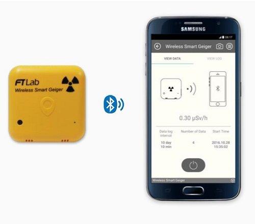 Smart Wireless Geigerzähler Strahlenmessgerät Dosimeter Radiometer Geiger-Müller Zähler iOS Android iPhone SMW