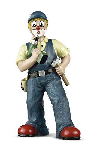 Gildeclown Figur Packen wir es 16cm Handwerker Clown Geschenkidee zum Männertag, Herrentag, Vatertag
