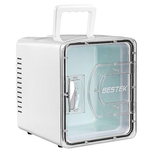 BESTEK 冷温庫 家庭 車載両用 ミニ冷蔵庫 として使用可能 2電源式 保温 保冷 小型でポータブル 8L ホワイト...