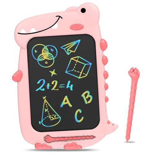 Toy Gifts Drawing Board for Girls - 10'' LCD Writing Tablet Learning Dinosaur Doodle Pad Toy | Birthday Educational Gifts for 3-8 Years Old Age Toddler Boy | Christmas Stocking Stuffers Gifts for Kids