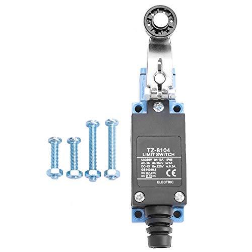 Interruptor de límite incorporado, AC250V 6A, DC220V 0.3A TZ-8104 Plástico de la palanca de rodillos, hecha de hierro
