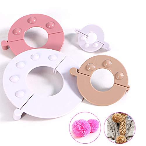 HXZB 4 verschillende maten ronde Pompom Maker Handcraft breien DIY Pom Pom Gereedschap Geschikt voor Hoed sjaal Hoofdband Decoratie