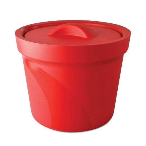 Bel-Art Magic Touch 2 High Performance Red Ice Bucket; 4.0 Liter, with Lid (M16807-4003)